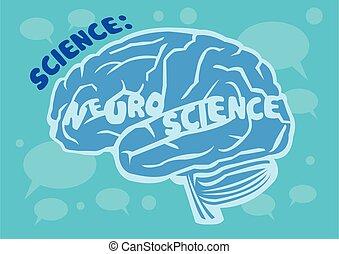 Human Brain Vector Illustration for Neuroscience - Stylized ...