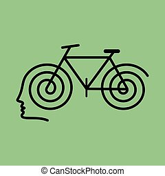 human brain with cycle