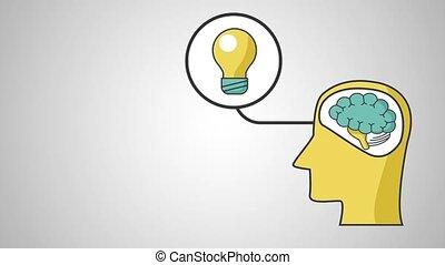Human brain with idea HD definition
