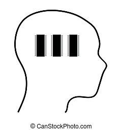 Human brain work with IC