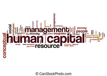 Human capital word cloud - Human capital concept word cloud...