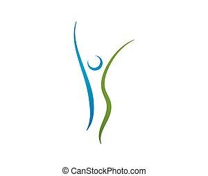 Health care logo. Nature logo sign.