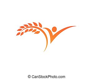 Human character logo sign Health care logo sign
