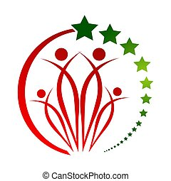 Human character logo sign Health care logo sign. Nature logo