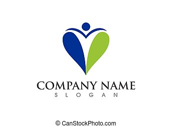 Health care logo sign