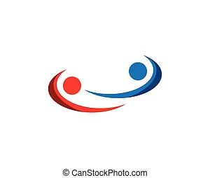 Human character logo template