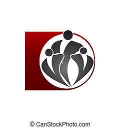 Human community logo template vector illustration icon design