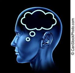 human, comunicação, conceito