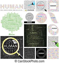 Human. Concept illustration.