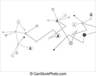 Human Connections - Abstract futuristic human connections. ...