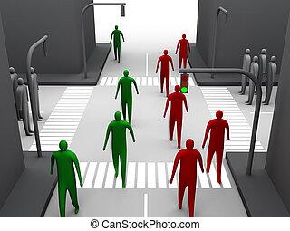 Human crossroad #2
