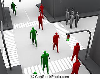 Human crossroad #3.