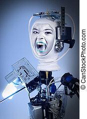 Human Cyborg Robot - Human cyborg robot for futuristic...