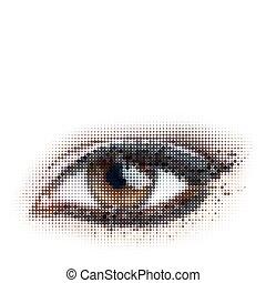 dots eye - human dots eye. eps8 vector illustration.