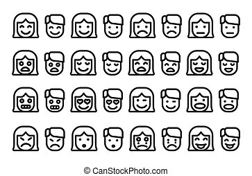 human emoticons set