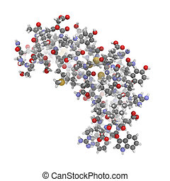 human epidermal growth factor (hEGF), chemical structure. - ...