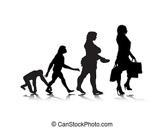 Human Evolution 10 - An abstract vector illustration of...