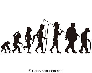 human evolution - the human evolution from primitive step to...