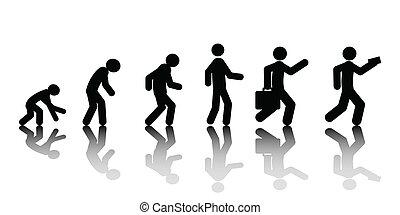 Human evolution, vector