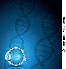 Human eye and DNA background