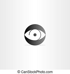 human eye circle vector icon