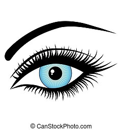 human eye - eye, on a white background, fashion , vector ...