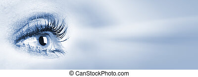 Human eye. - Human eye looking the copyspace. Vision...