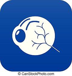 Human eye icon blue vector