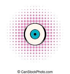 Human eye icon, comics style