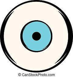 Human eye icon, icon cartoon