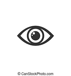 Human eye icon on a white background