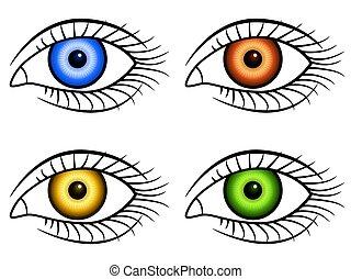 Human eye icons