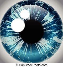 Human Eye Iris, Realistic Eyeball Icon