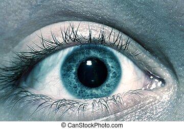 Human Eye Macro - Human Eye in Macro Photography. Male / Men...