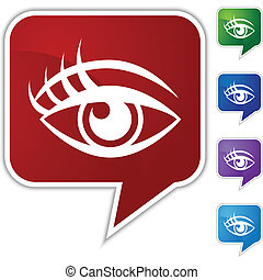 Human eye Speech Balloon Icon Set