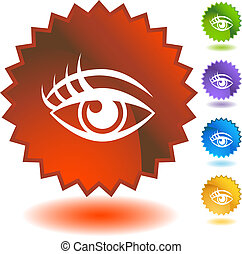Human eye Starburst Icon Set