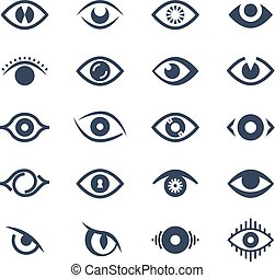 Human eye, supervision and view symbols. Looking eyes vector...