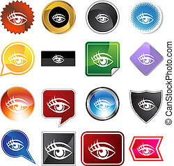 Human eye Variety Icon Set