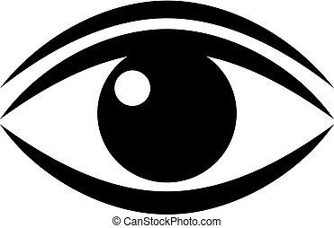 Human eye vector pictogram