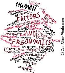 Human factors and ergonomics - Abstract word cloud for Human...