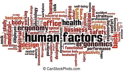 Human factors word cloud concept. Collage made of words about human factors. Vector illustration