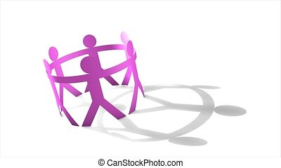 Human figure cut out - Simple and meaningful animation,...