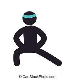 human figure fitness icon