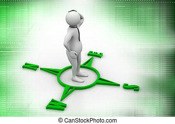 human figure on directional sign
