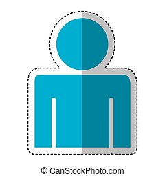 human figure silhouette icon vector illustration design
