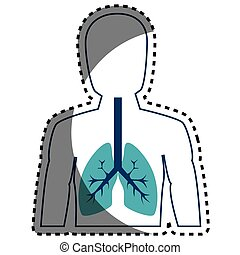 human figure with lungs vector illustration design