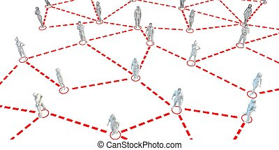 Human Figures Connected