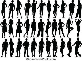 human figures, vector of high quality