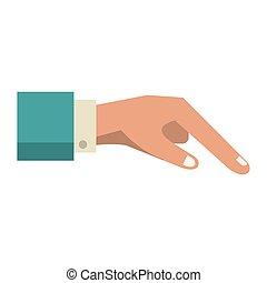 human finger cartoon vector illustration graphic design