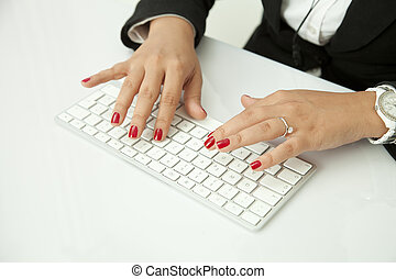 Human Finger on the Keyboard